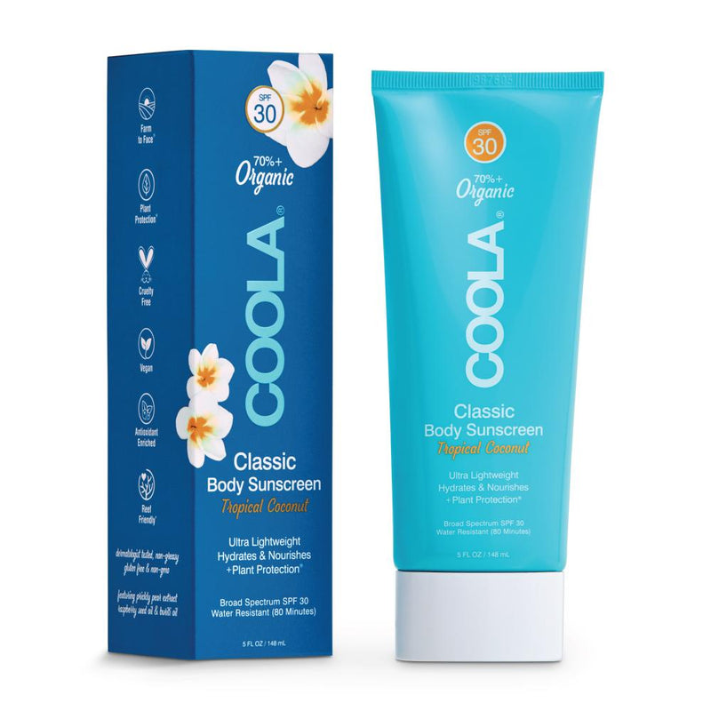 Coola Sunscreen Classic Body Organic Sunscreen Lotion SPF 30 - Tropical Coconut
