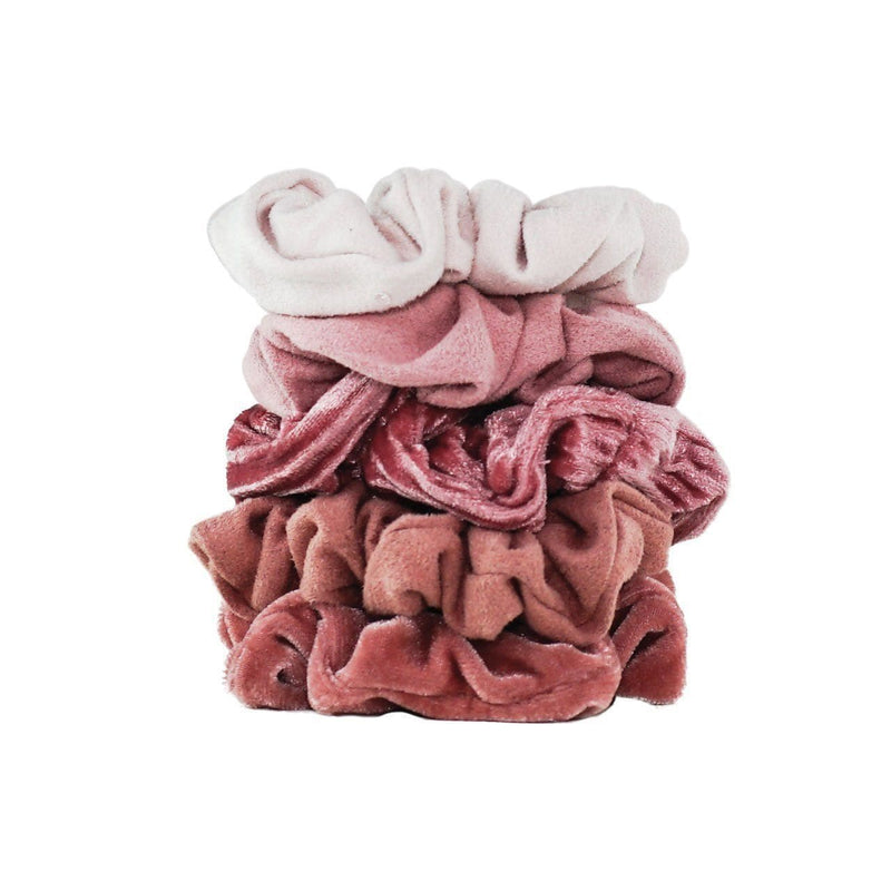 Velvet Scrunchies - Blush/Mauve