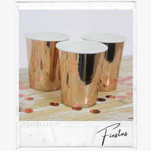 Vaso Descartable Rose Gold x 10 unidades