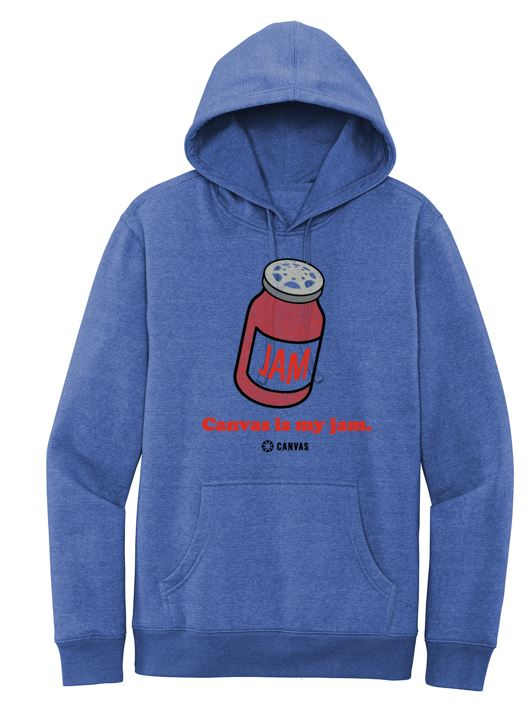Canvas Is My Jam Fleece Hoodie- ROYAL FROST
