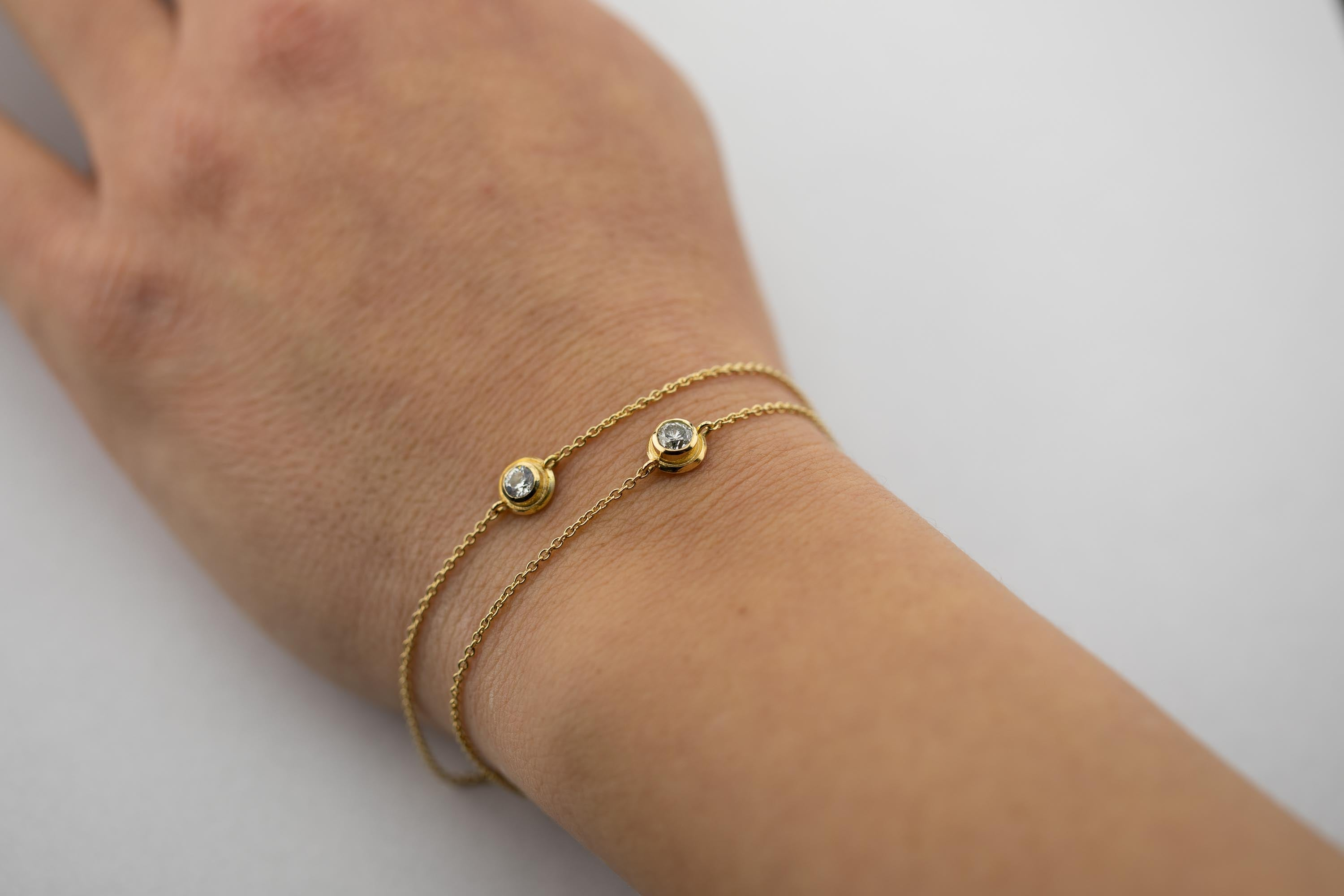 Armband, Brillant, Gold