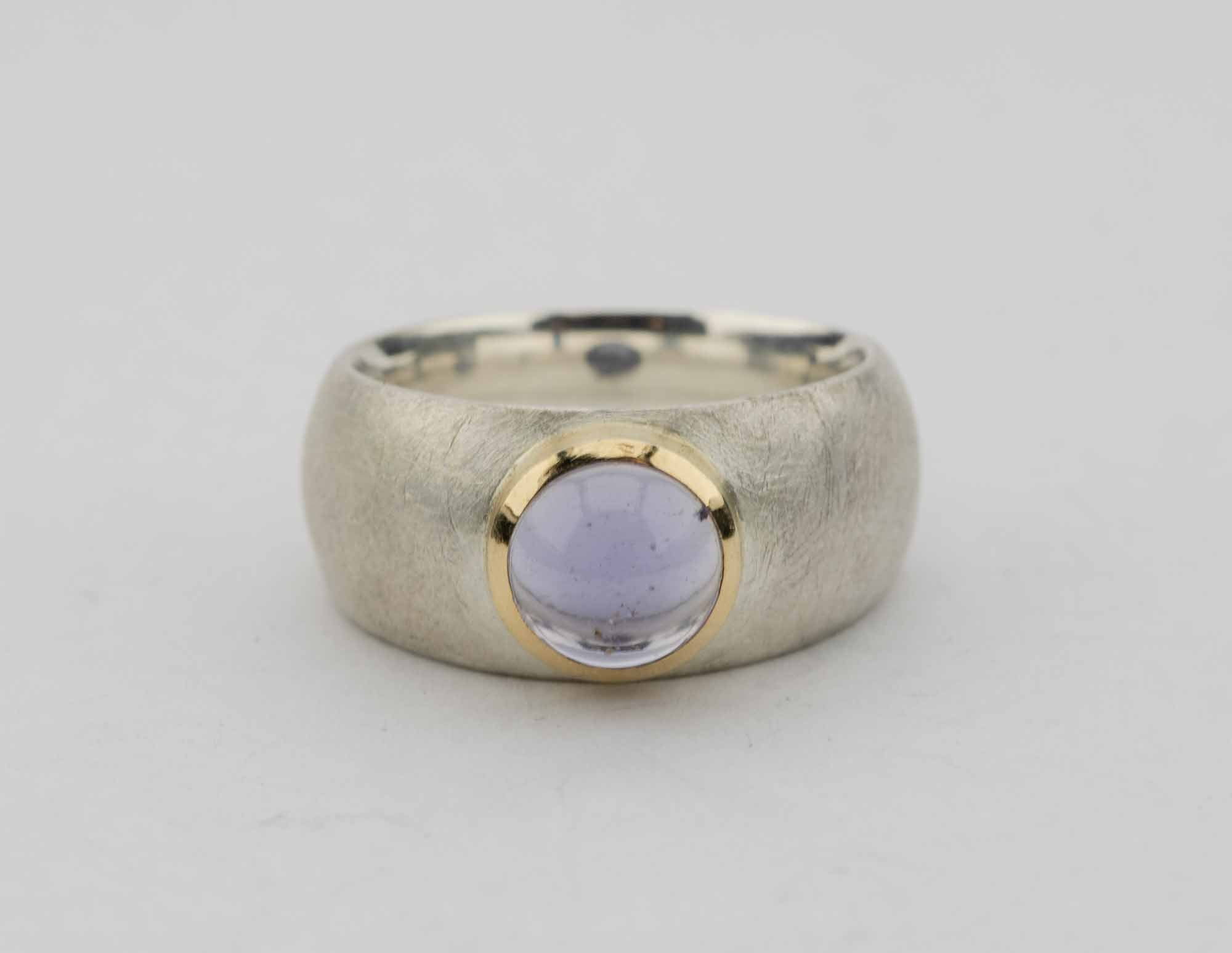 Ring Iolith Silber 750/000 Gold