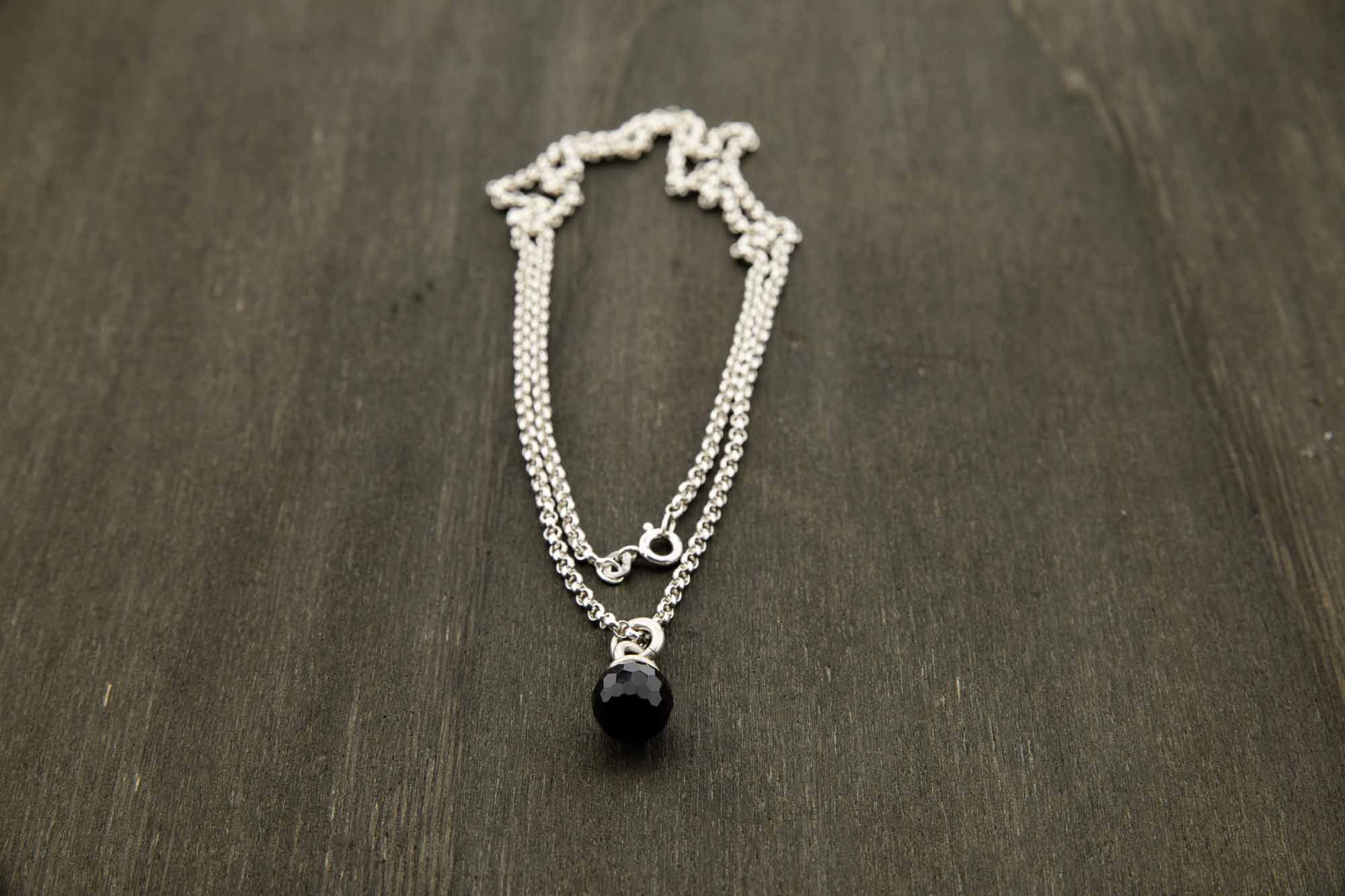 Collier Onyx & Silber