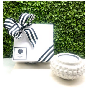 Signature Black and White Wrapped~Small Hobnail