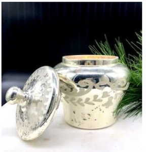 Mercury Glass Ginger Jar with Lid