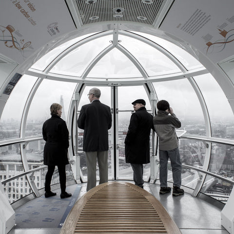 4 people in an observatory