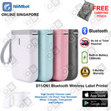 Niimbot D11/D61 Label Printer Wireless Bluetooth Thermal Label Portable Printer for Android / IOS Phone (Ready Stock)