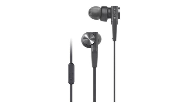 SONY MDR-XB55AP (Black) Extra Bass In-Ear Headphones with Microphone