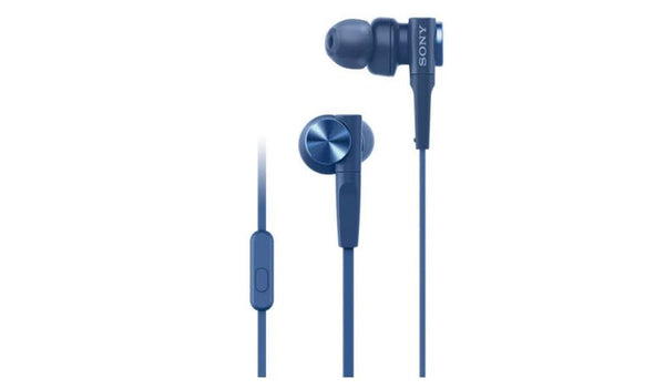 SONY MDR-XB55AP (Blue) Extra Bass In-Ear Headphones with Microphone
