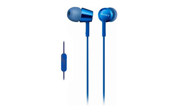 SONY MDR-EX155AP (Blue) In-ear Headphones with Microphone
