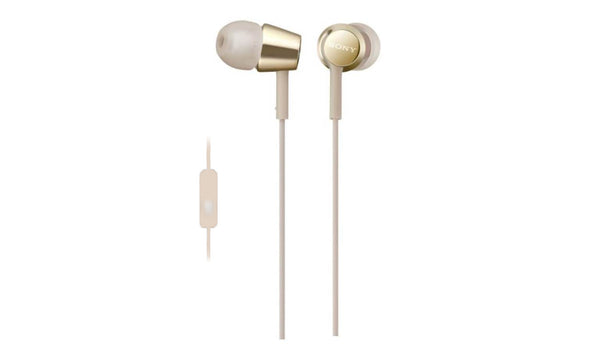 SONY MDR-EX155AP (Gold) In-ear Headphones with Microphone