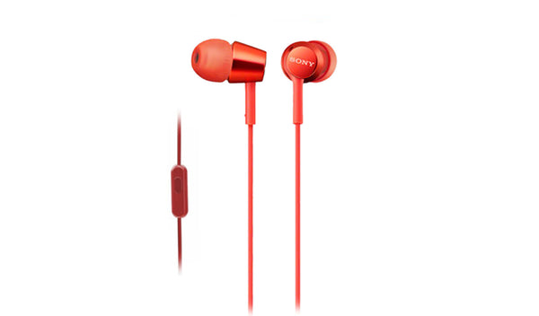 SONY MDR-EX155AP (Red) In-ear Headphones with Microphone