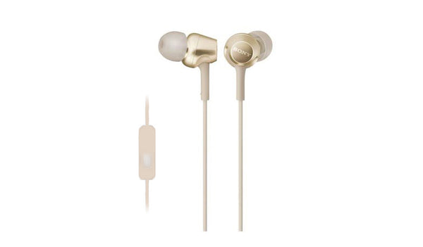 SONY MDR-EX255AP (Gold) In-ear Headphones with Microphone