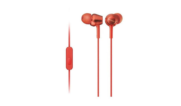 SONY MDR-EX255AP (Red) In-ear Headphones with Microphone