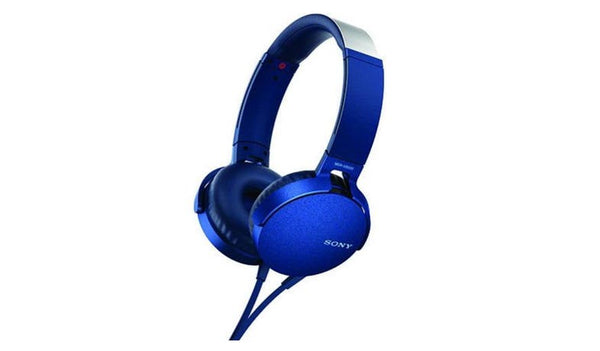 SONY MDR-XB550AP (Blue) EXTRA BASS™ Headphones with Microphone