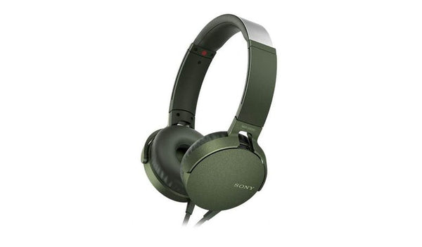 SONY MDR-XB550AP (Green) EXTRA BASS™ Headphones with Microphone