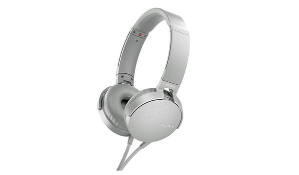 SONY MDR-XB550AP (White) EXTRA BASS™ Headphones with Microphone