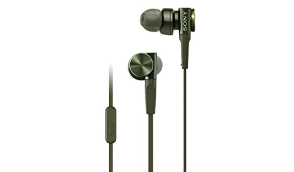 Sony MDR-XB75AP (Green) EXTRA BASS™ In-ear Headphones with Microphone