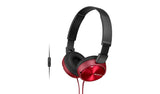 SONY MDR-ZX310AP (Red) Headphones with Microphone
