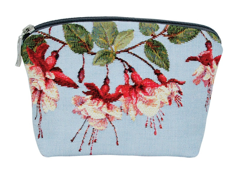 Annabella French Tapestry Cosmetic Bag  Fuchsia