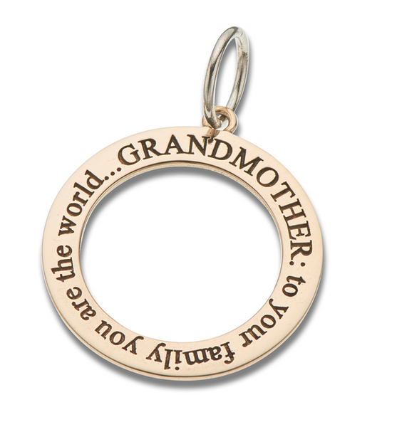 Grandmother Open Circle Charm