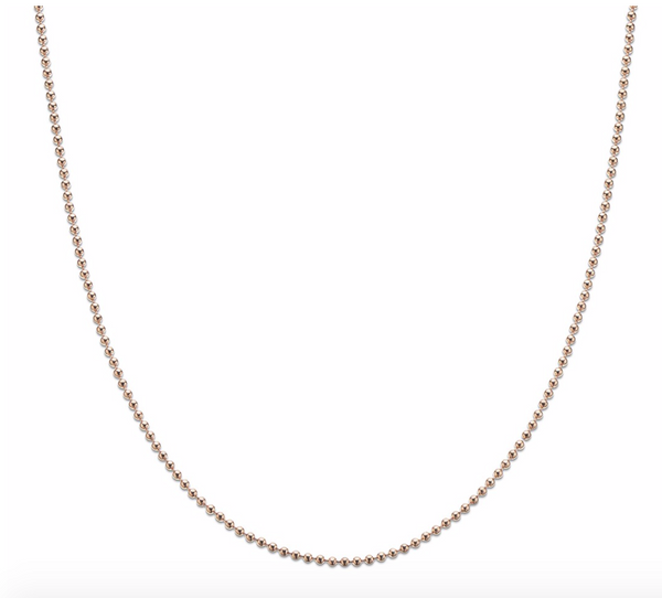 Rose Gold Plated Ball Chain 80cm