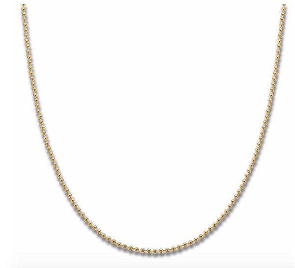 Yellow Gold Plated Ball Chain 90cm