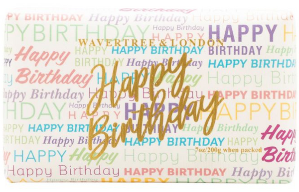 HAPPY BIRTHDAY SOAP BAR - FRENCH PEAR FRAGRANCE