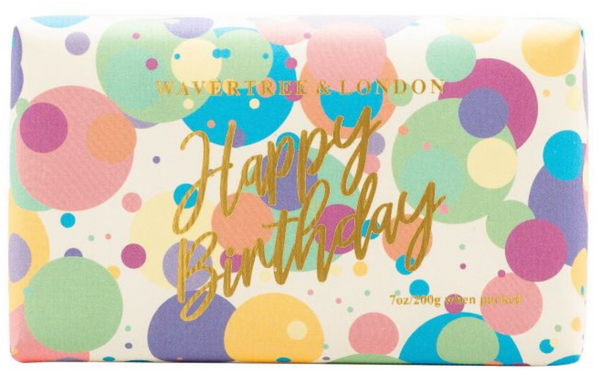 HAPPY BIRTHDAY CONFETTI SOAP BAR - FRENCH PEAR FRAGRANCE