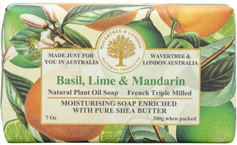 BASIL, LIME & MANDARIN SOAP BAR