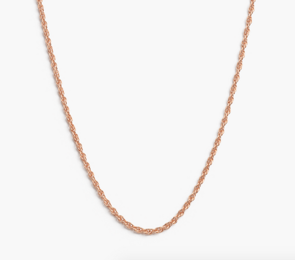 Rope Choker Rose Gold 14-16""