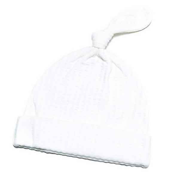 WHITE SELF STRIPE HAT