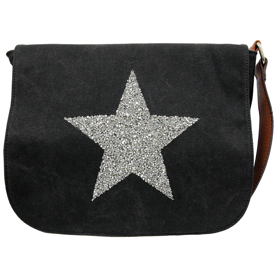 Star Power Crossbody Bag  Black