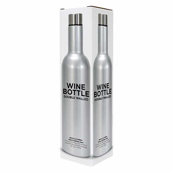 Wine Bottle - Silver