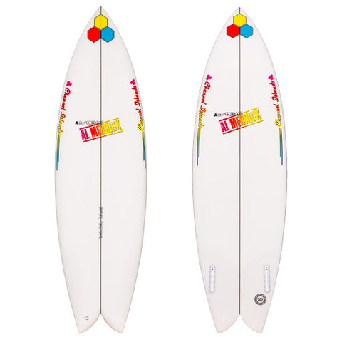 Fishbeard 5'7 Channel Island Twin Fin Futures