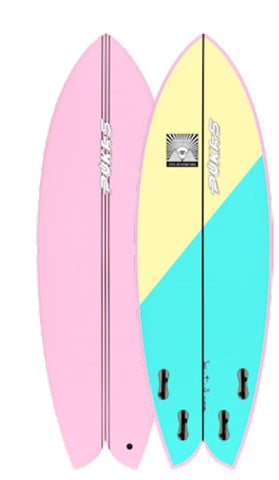 Pukas Surfboards X Eye Simmetry Wombi Fish 5'6