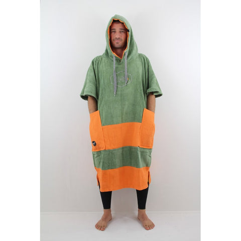 All-In Poncho Bumpy Line Kaki
