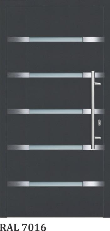 OR 1204-Silver - GLASSWIN Front Doors