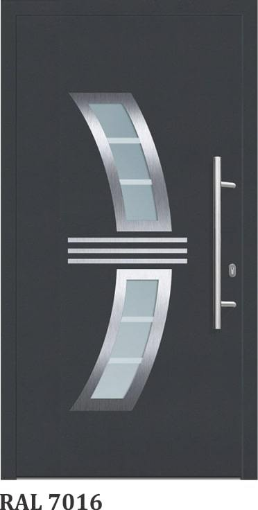 OR 1212-Silver - GLASSWIN Front Doors