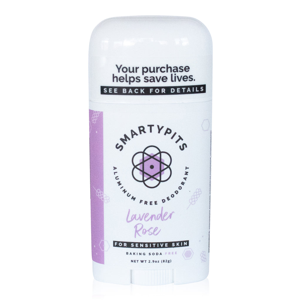 SmartyPits - Lavender & Rose | Sensitive Skin Formula | Baking Soda Free