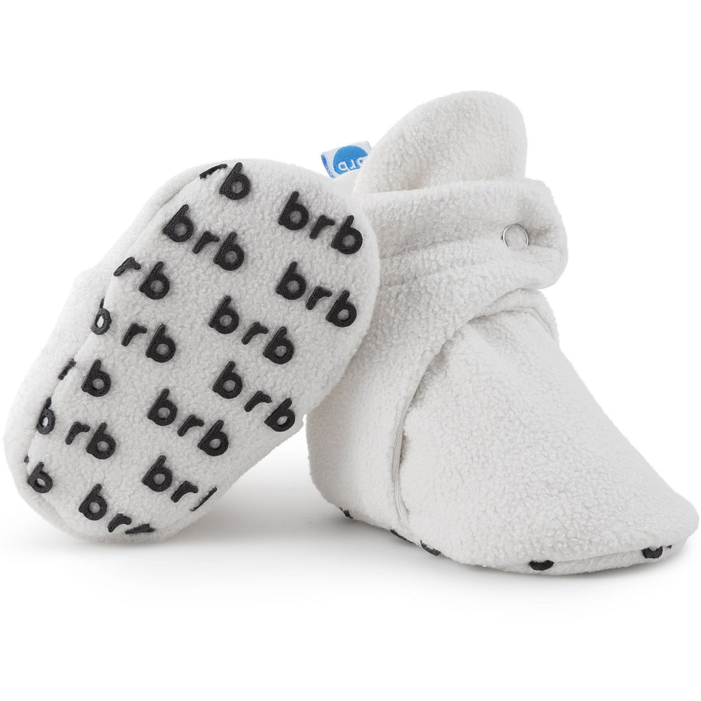 BirdRock Baby - Cream White Fleece Baby Booties