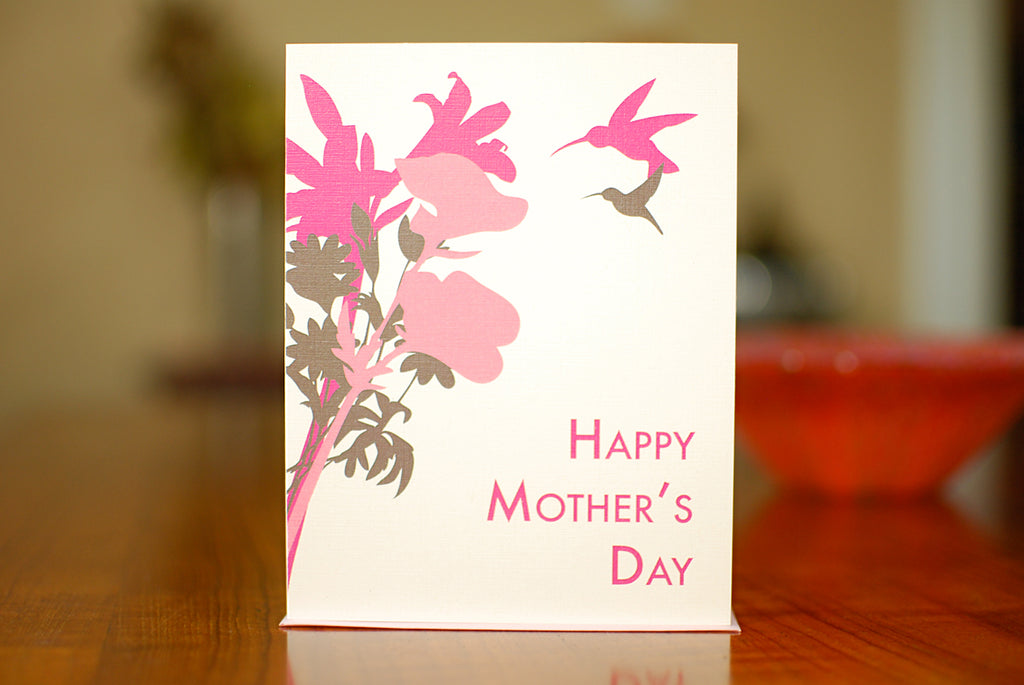 MAN vs. GEORGE DESIGN - Happy Hummingbirds Mother's Day Card