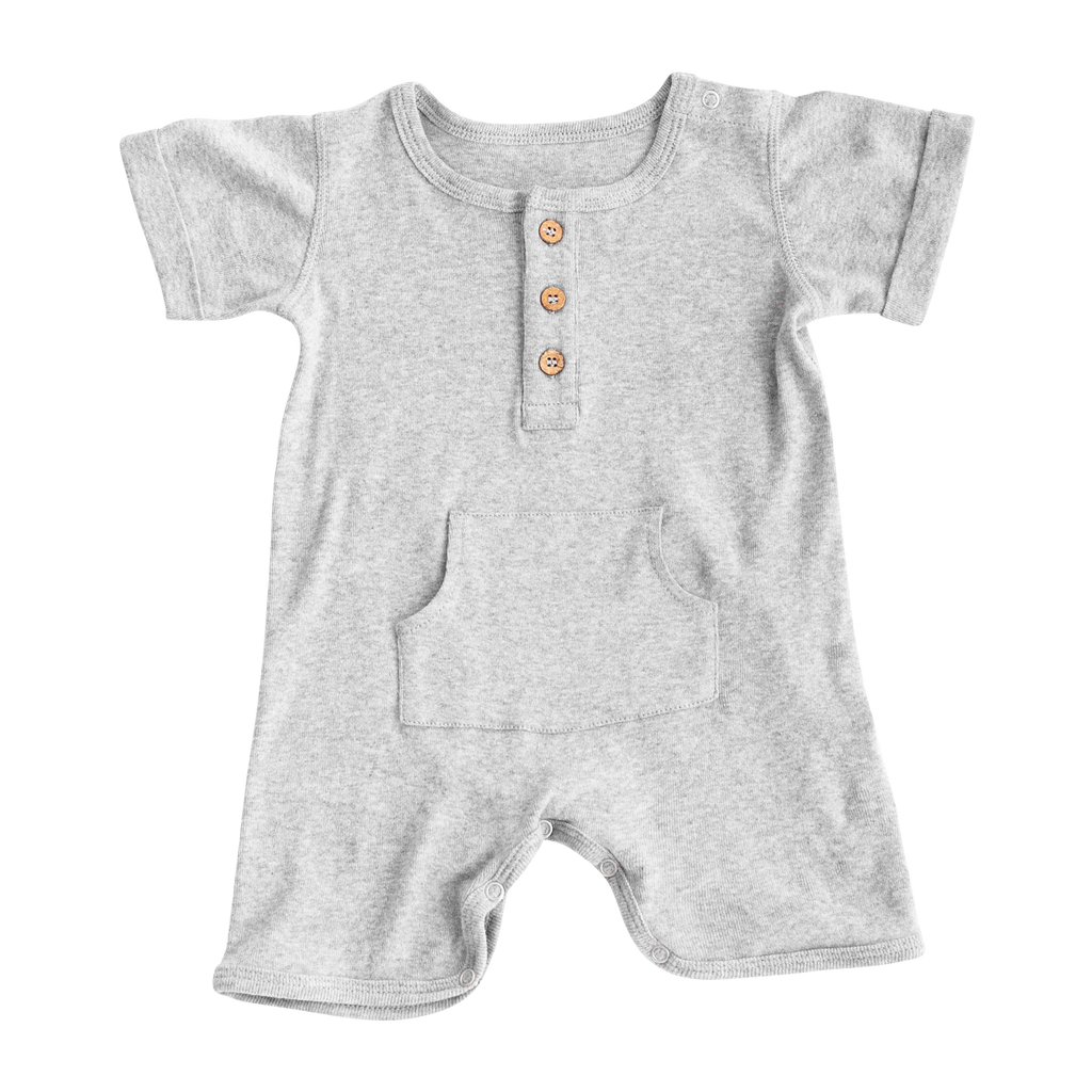Zestt - Organic Cotton Everyday Romper - Gray