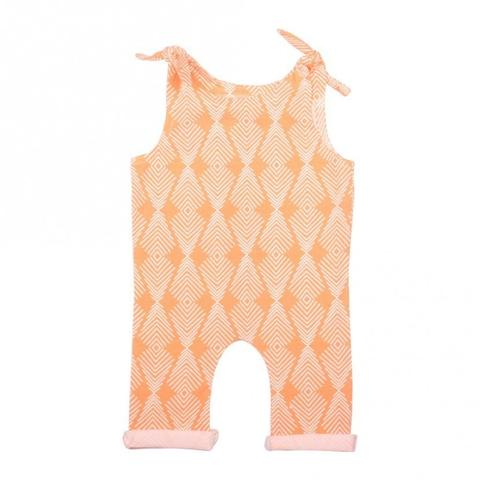 Young and Free Apparel - Apricot Tie Girls Romper