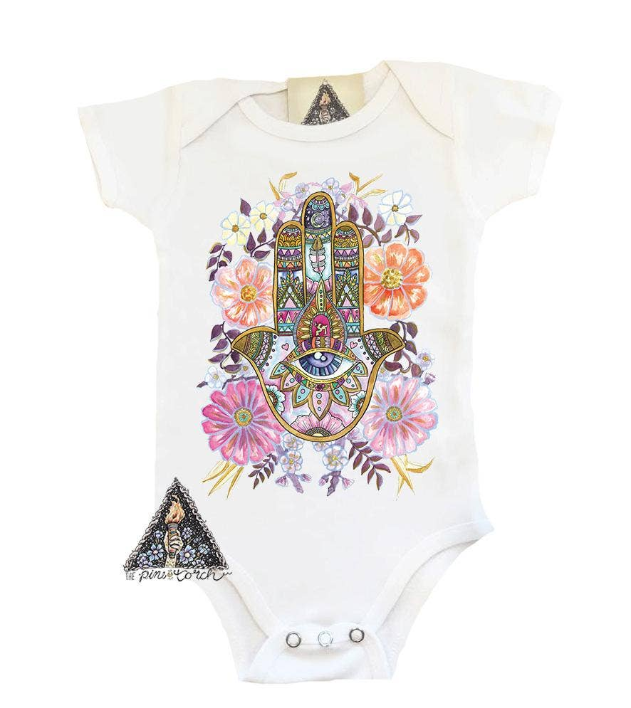 The Pine Torch - Hamsa Bodysuit
