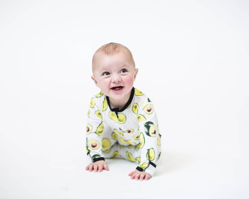 Peregrine Kidswear - Avocado Bamboo Footed Sleeper