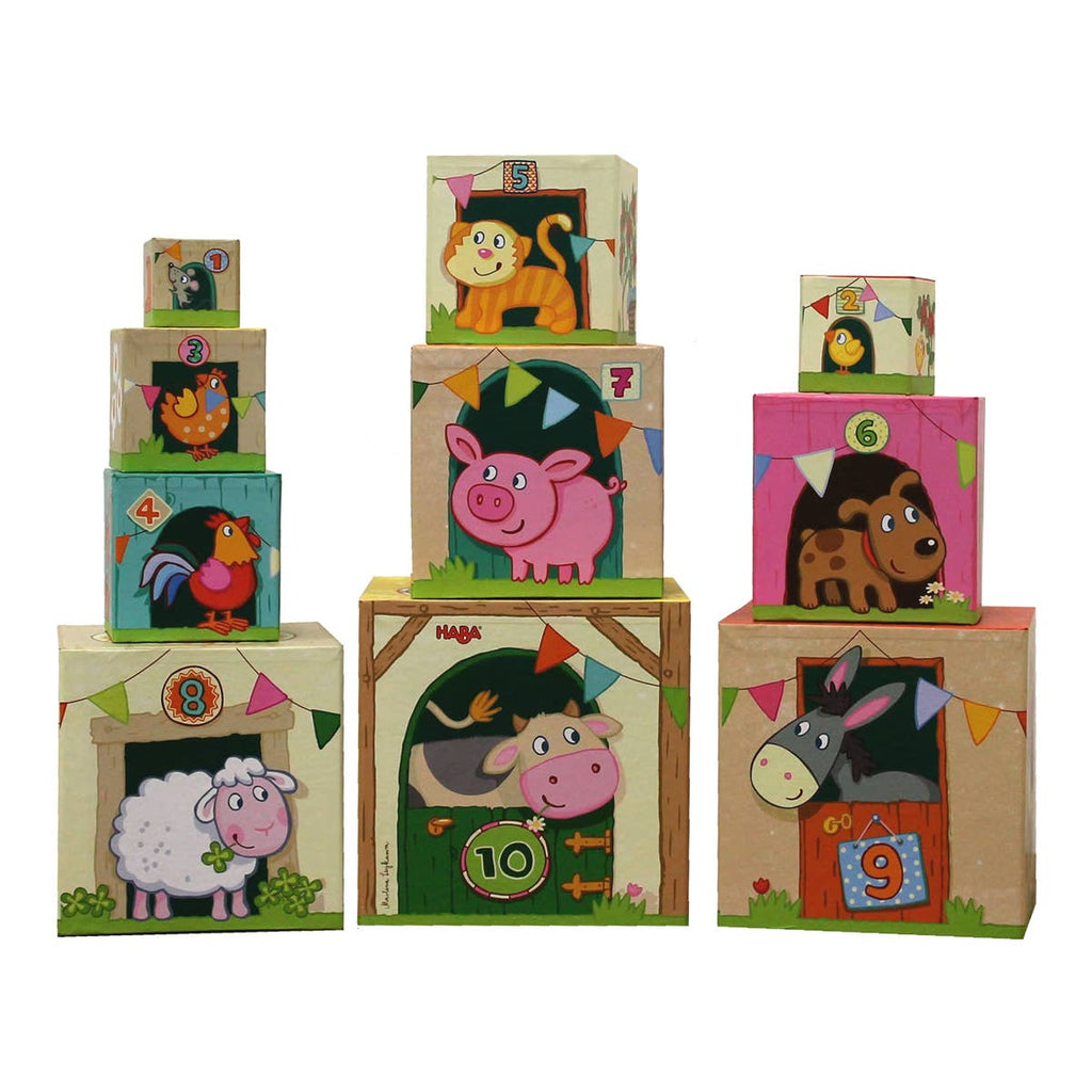 HABA - On The Farm Stacking Cubes