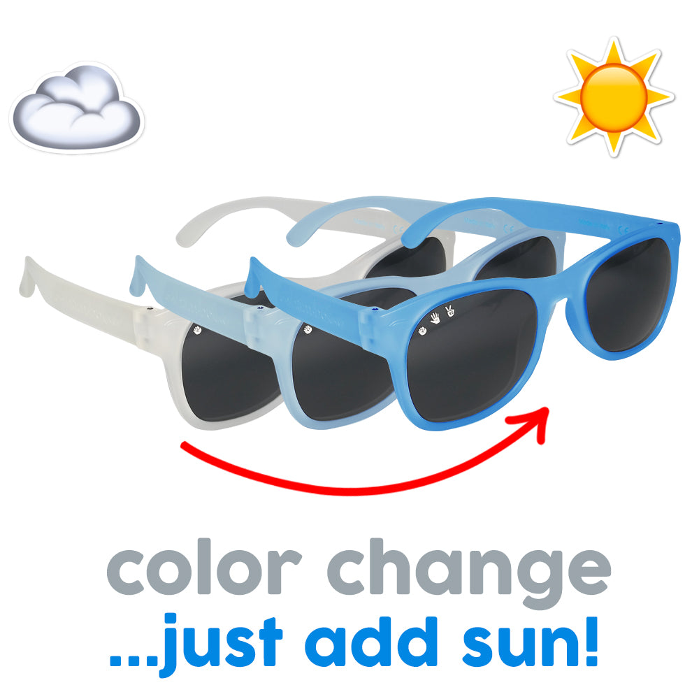 Roshambo Baby - Optimus Color Changing Blue Toddler Sunglasses - Polarized