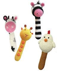 Cheengoo - Animal Stick Rattles