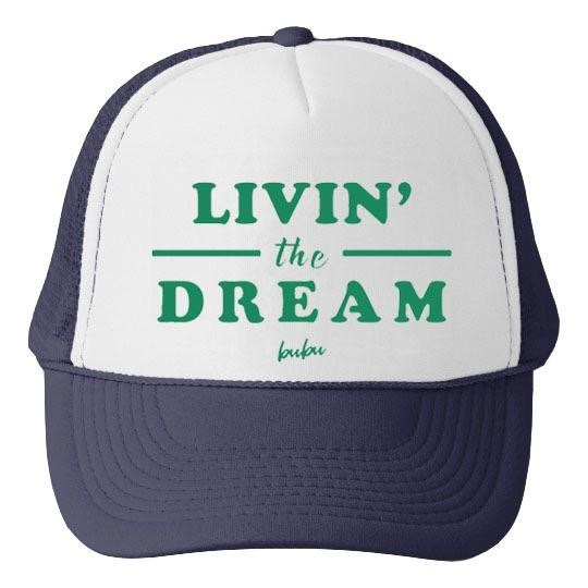 Bubu - Livin The Dream White/Navy Trucker Hat